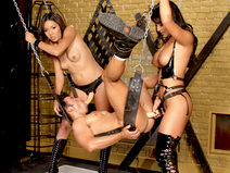 FemDoms Keeani Lei & Gianna Lynn Peg Their Sex Slave