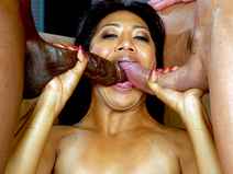 Lyla Lei Gets Her Pussy Stretched By Two Cocks