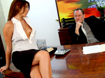 Bella Rey Keeps Her Job By Blowing The Boss