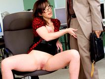 Jennifer White Bent Over The Office Chair & Boned!  babe