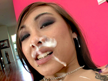 Ariel Rose gets a face full of cum