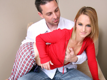 Melanie uses her tight pussy to seduce her StepDad