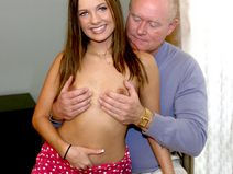 She loves an old pervert's big cock and experience babe